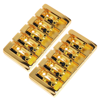 2Pcs 5 String Bridge Square Saddle Gold Plated 19mm String Space With Srews Allen Wrench For