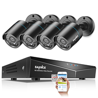SANNCE Home Security Camera System 8CH DVR CCTV System 4pcs 720P Waterproof Camera Video Surveillance Kit 1TB Outdoor