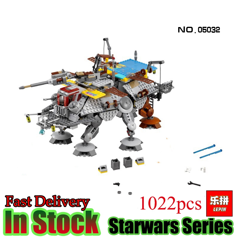 LEPIN 05032 Star Wars 1022pcs The Captain Rex's AT-TE  Starwars Model Building Blocks Bricks  Boys Toys Gift Compatible 75157 lepin 22001 pirate ship imperial warships model building block briks toys gift 1717pcs compatible legoed 10210