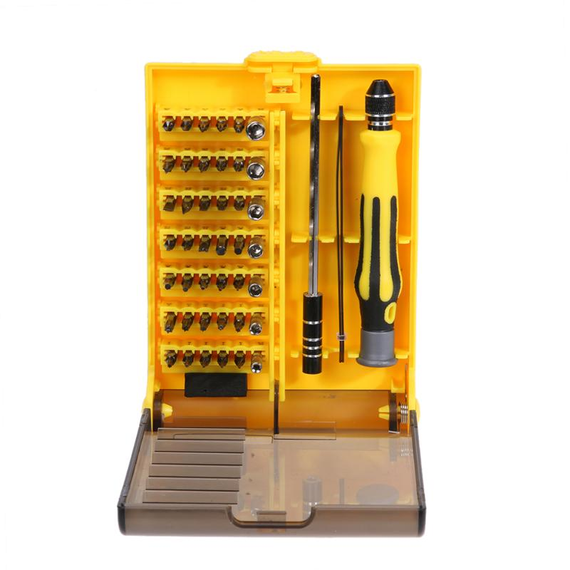 45 in 1 Screwdriver Set Torx Star Slotted Hex Pozidriv Square Socket Multi-Bit Repair Tool Kit for Phone PC