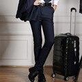 2016 мужчин полноценно мода бизнес брюки/мужская slim fit костюм брюки/мужская чистого хлопка повседневные брюки
