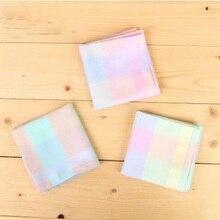 Frete grátis 12 peças 43cm * 43cm cor algodão lenço feminino