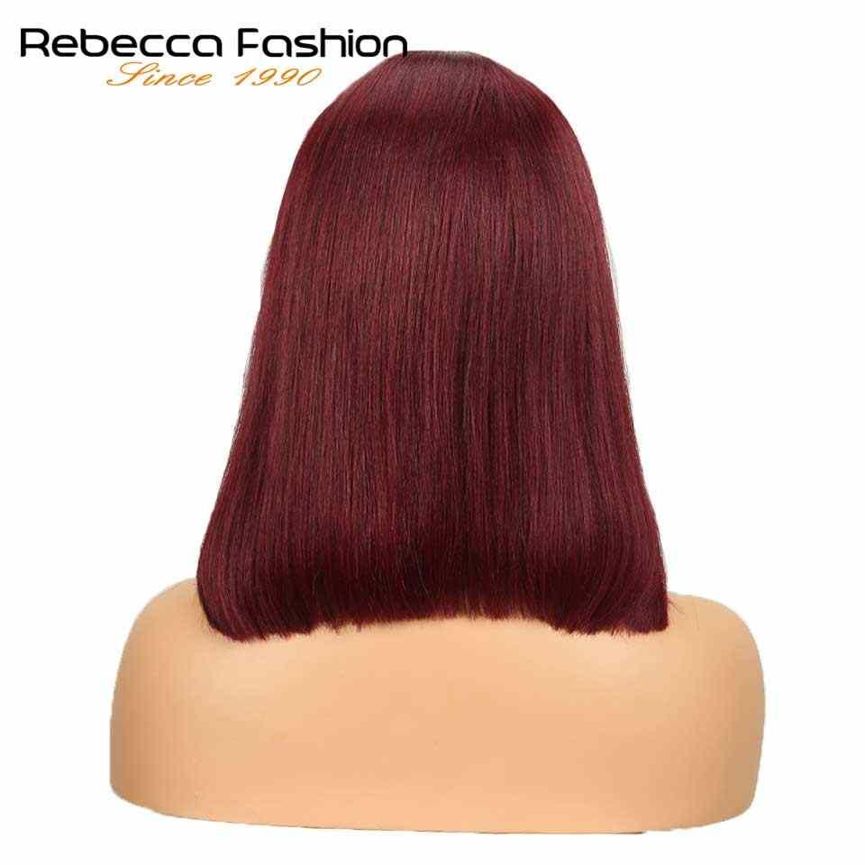 Peluca de pelo lacio Rebeca de encaje medio para mujer 16 pulgadas envío gratis