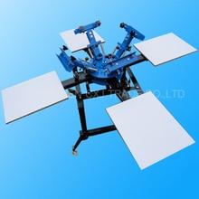 1 компл. 4 цвета 4 станции Экран печатная машина comeswith База хорошее качество футболки печатная машина