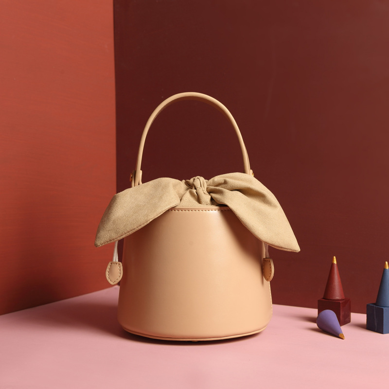 Blascher Elegant Bucket Women Bag Genuine Leather Designer Handbag High Quality Cylinder Ladies Shoulder Messenger Bag