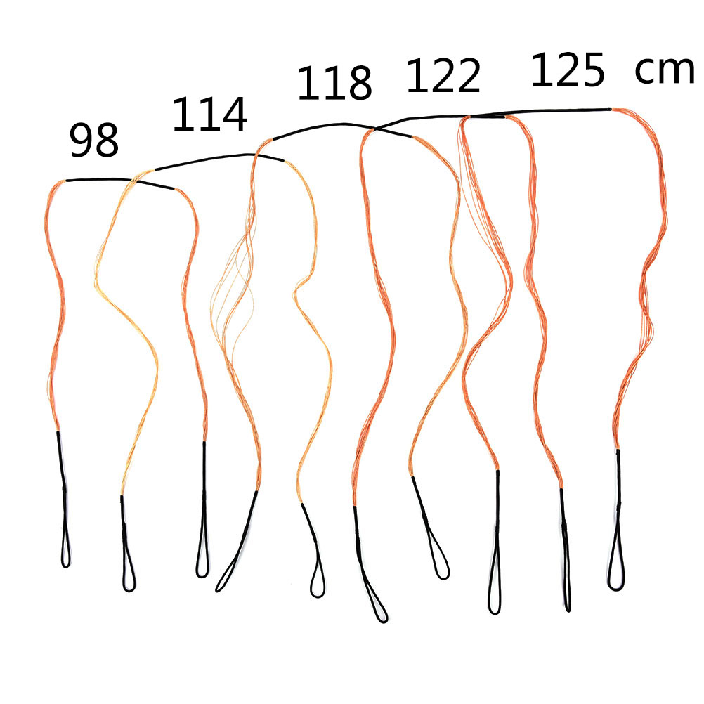 small resolution of bow string 43 7 68 111cm 173cm length replacement black bow string for traditional recurve bow longbow hunting accessories in bow arrow from sports