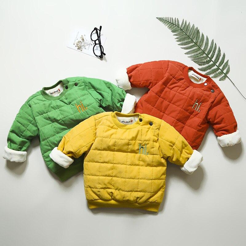 Hoodies & Sweatshirts Geschickt Exactlyfz Toddle Baby Jungen Sweatshirts Winter Verdicken Warme Mantel Infant Cltohing Fleece Samt Brief Mode Oberbekleidung Hoodies Eleganter Auftritt Mutter & Kinder