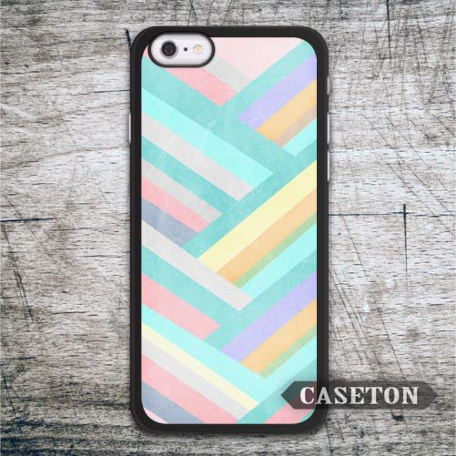 Retro Chevron Stripes Block Case For iPhone 7 6 6s Plus 5 5s SE 5c 4 4s and For iPod 5 Lovely Phone Cover Drop Shipping