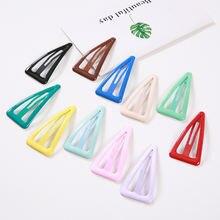 Новые цветные геометрические треугольные зажимы для волос в