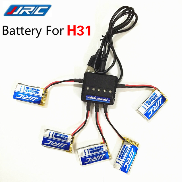 JJRC H31 Battery Spare Parts 3.7V 400mah Original Lipo Battery With 5in1 Charger