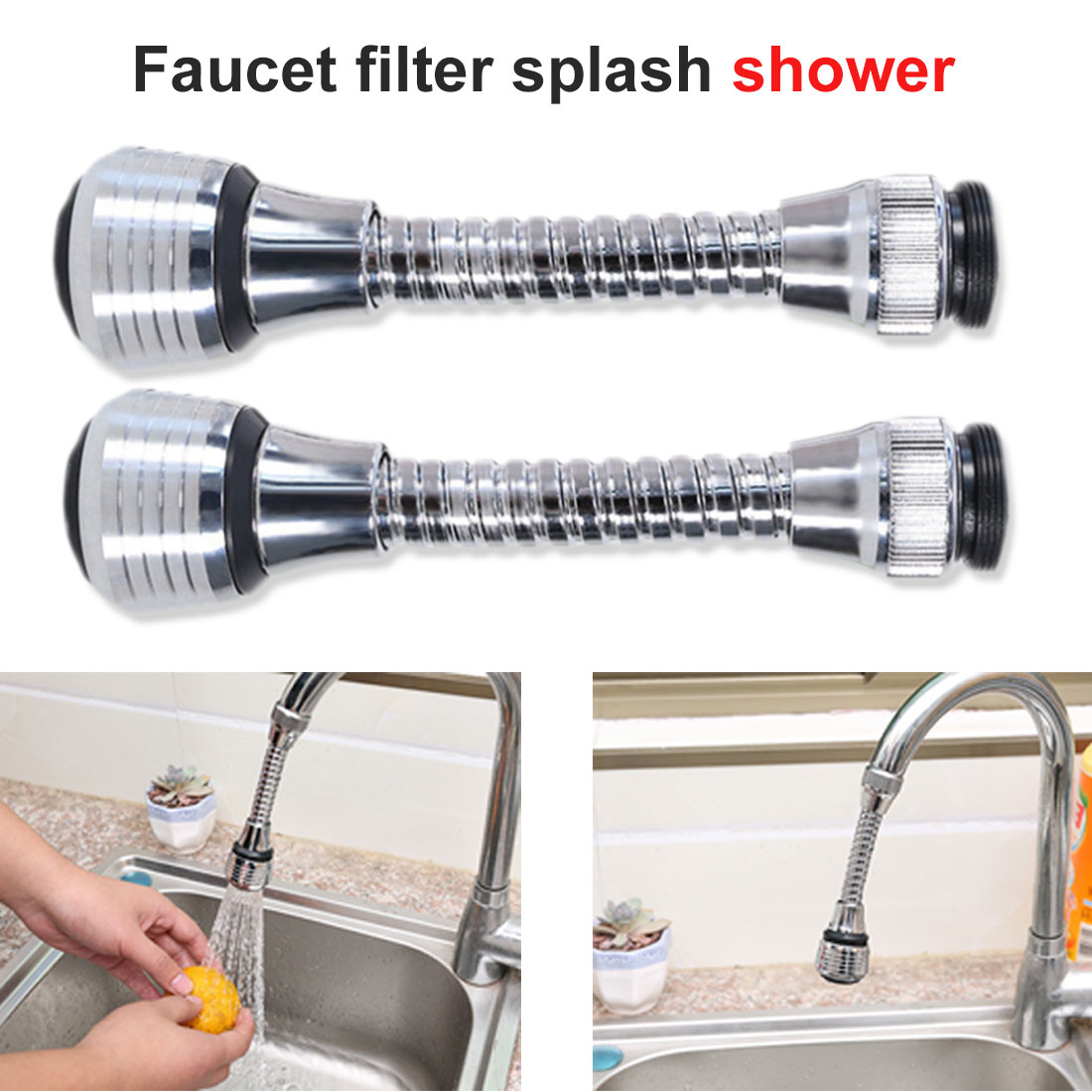 1PC  Kitchen Sprayer Head Water Kitchen Faucet Home Supplies 360 Degree Rotate Faucet Nozzle Faucet Saving Taps Applications