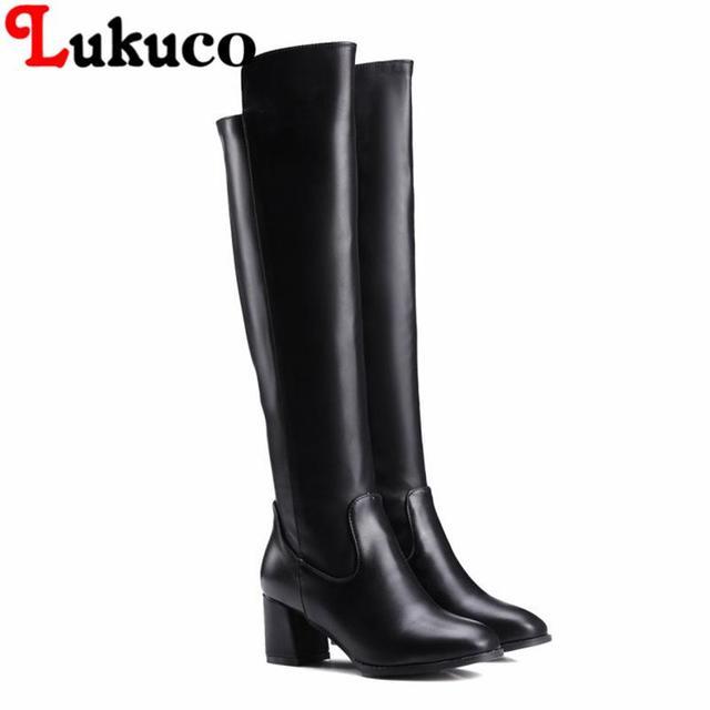 NOUVEAU Européenne PLUS LA taille 43 44 45 46 47 48 Lukuco femmes élégantes  bottes à 0b57aa0428e1