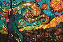 STARRY NIGHT - DEAN RUSSO ART SILK POSTER Decorative Wall painting 24x36inch