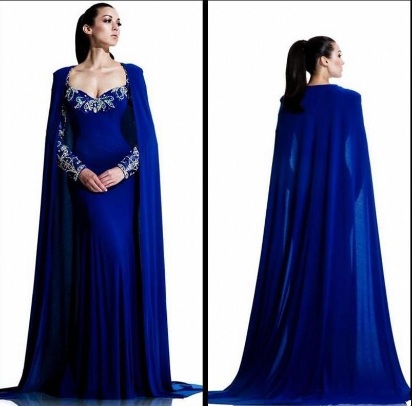 Blue Long Gown with Sleeves – fashion dresses