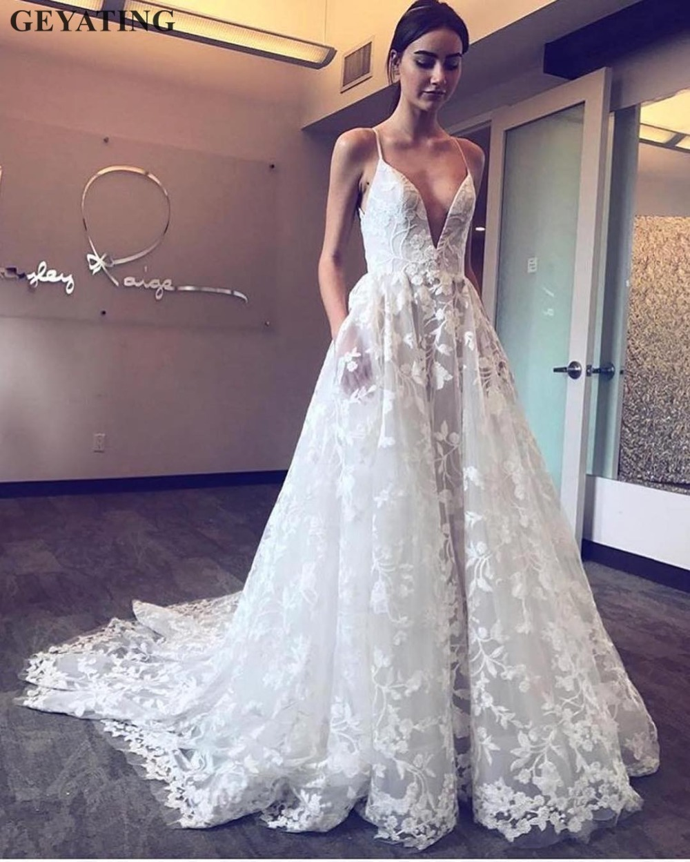 Pics Of Vintage Wedding Dresses: Vintage Boho Lace Wedding Dress 2019 Sexy Backless