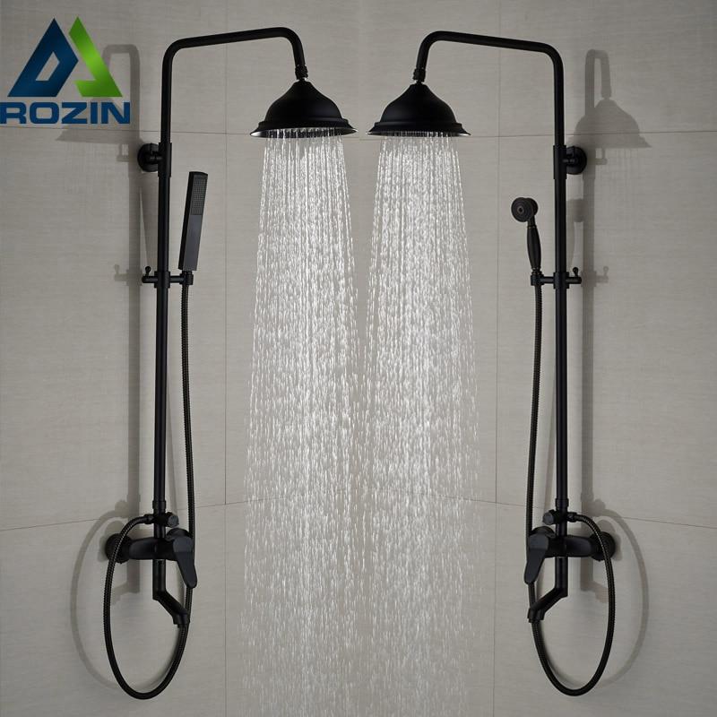 Modern In Wall Outdoor Shower Faucet Set 8 Quot Brass Rainfall
