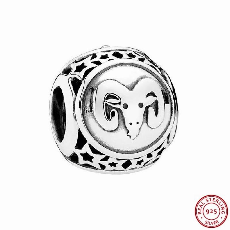 Popular 925 Sterling Silver Striking Aries Star Sign