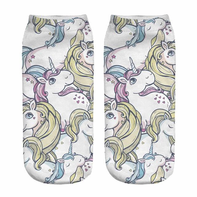 3D Printed Unicorn Womens Socks