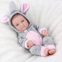 Oyuncaklar ve Hobi Ürünleri'ten Bebekler'de KAYDORA Tam Vücut Silikon Gerçek Görünümlü Yumuşak Vinil Reborn Bebek Bebek Gifts10Inch 25 cm Gerçekçi Yenidoğan Bebek Çocuk boneca
