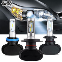 MIXCTRENDS S1 Car Headlight H7 H4 Led 9005 HB3 9006 HB4 H13 6500K CSP Chips 50W