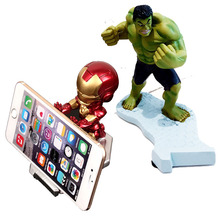 Phone holder hulk Captain America iron Man Cartoon Desktop Holder League of legends Office mobile phone stand desk