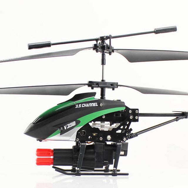 Best Quality WLToys V398 Cool Missile Launching 3.5CH RC Remote Control Helicopter With Gyro Quadcopter christmas gift for boy