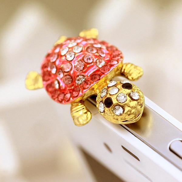 Dependable Fashion Style Cute Turtle Shape Design Mobile Phone Ear Cap Dust Plug For Iphone For Samsung 3.5mm Earphone Dust Plug Mobile Phone Accessories Dust Plug