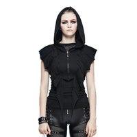 Punk Style Women's T shirts Bat Wing Sleeve Black Short Top Tees Cool Dark Hooded T shirts New Arrivals Cotton T shirt
