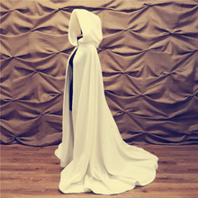 Wedding-Cape Faux-Fur Ivory Long Winter with Hood Princess Cloak