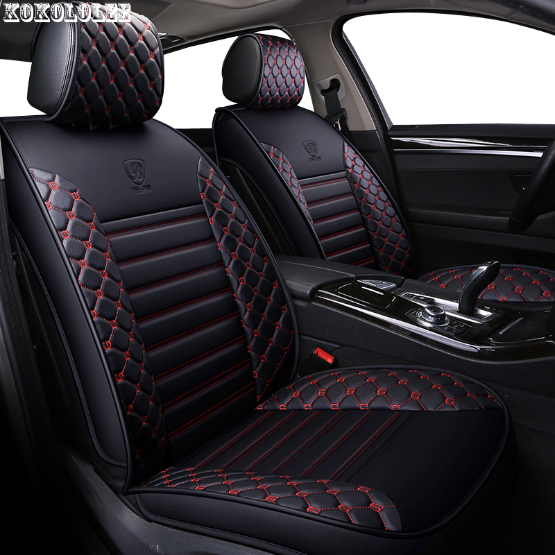 kokololee pu leather car seat covers for kia sportage 3 lada vesta mercedes ix25 subaru