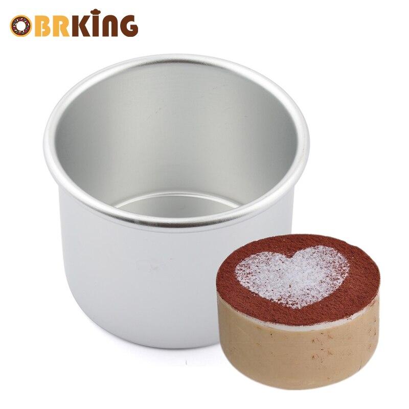 Obrking 4 pulgadas aleación de aluminio ronda cake molde ...