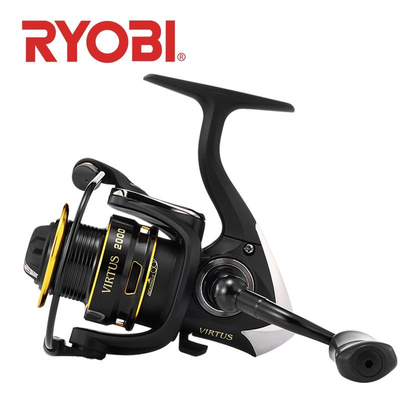 RYOBI VIRTUS Fishing Reel Spinning 2000/3000/4000/6000/8000  4+1 BB 5.0:1/5.1:1 Ratio 2.5-7.5KG Power Japan Reel Carretilha
