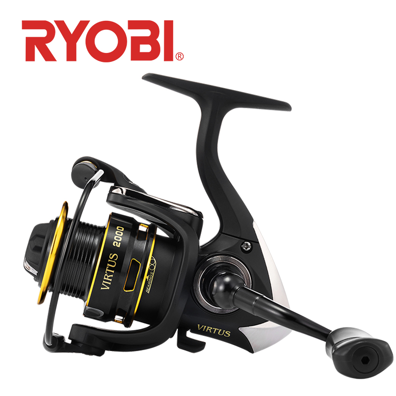 <font><b>RYOBI</b></font> VIRTUS fishing reel spinning 2000/<font><b>3000</b></font>/4000/6000/8000 4+1 BB 5.0:1/5.1:1 Ratio 2.5-7.5KG Power Japan reel carretilha image