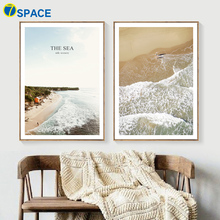 Sea Beach Quotes Nordic Posters And Prints Canvas Painting Wall Art Print Landscape Pop Pictures For Living Room Decor