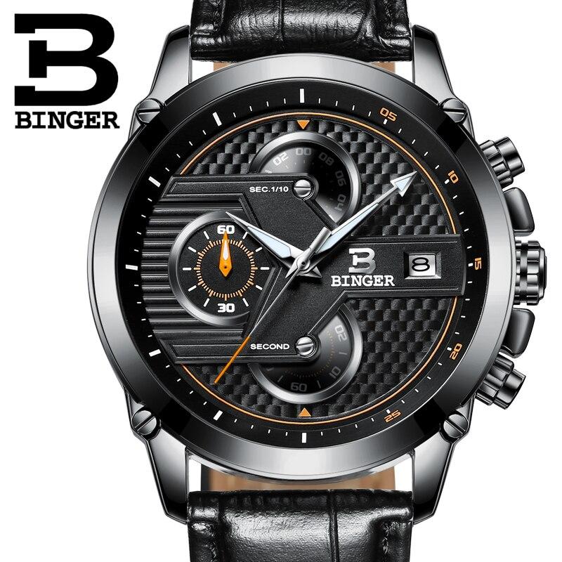 Watches Men Luxury Top Brand BINGER New Fashion Men s Big Dial Designer Quartz Watch Male