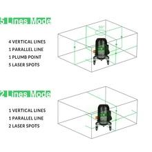 DEKO DKLL501 5 Lines 6 Points Laser Level Green Laser Lines Multipurpose Cross-Line Outdoor Tilt Mode Can be Used with Detector