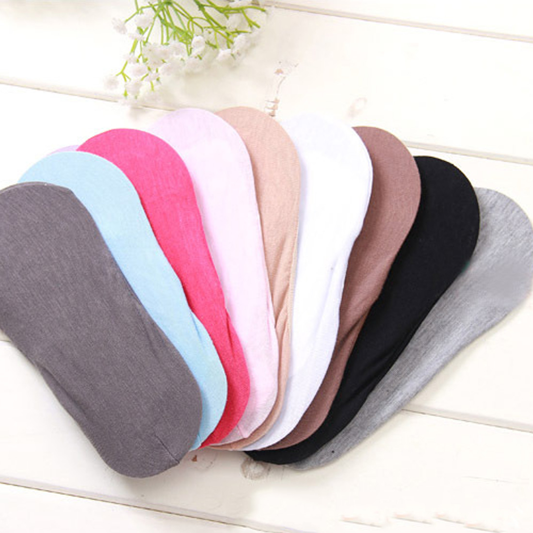 Hot Warm comfortable cotton girl women's socks ankle low female invisible color for girl hosiery 1pair=2pcs