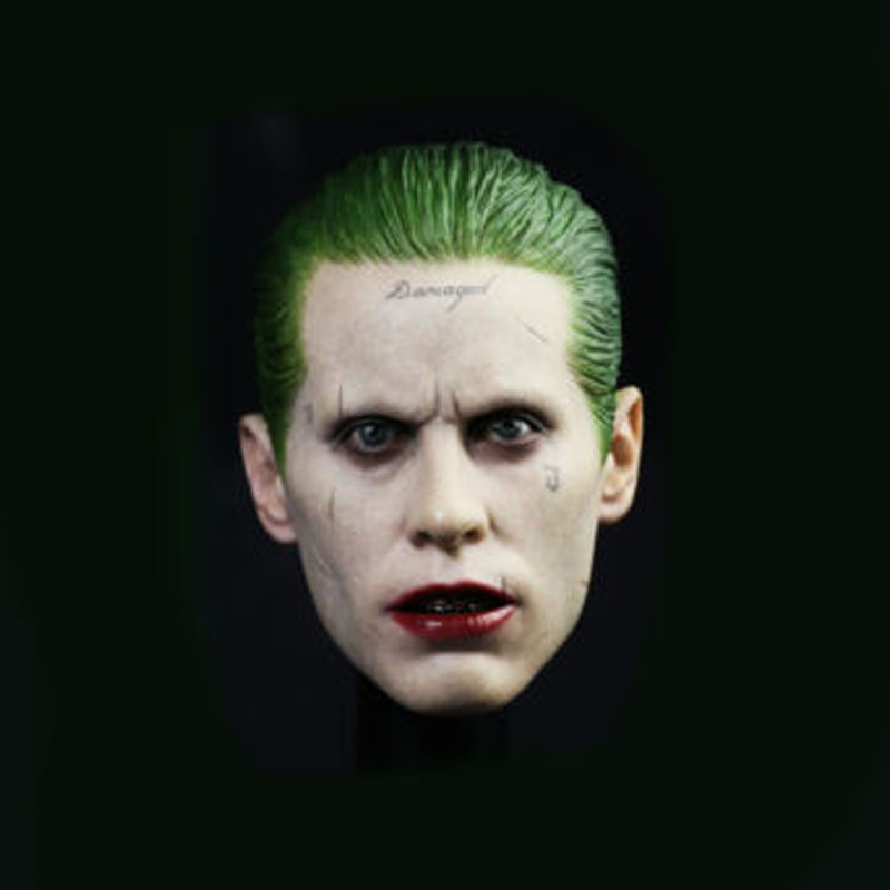 Jared Leto 1/6 Scale Male Head Sculpts Model Toys The Joker Suicide Squad Model For 12   Male Action Figure 1 6 scale male head sculpts model toys downey jr iron man 3 captain america civil war tony with neck sets mk45 model collecti f