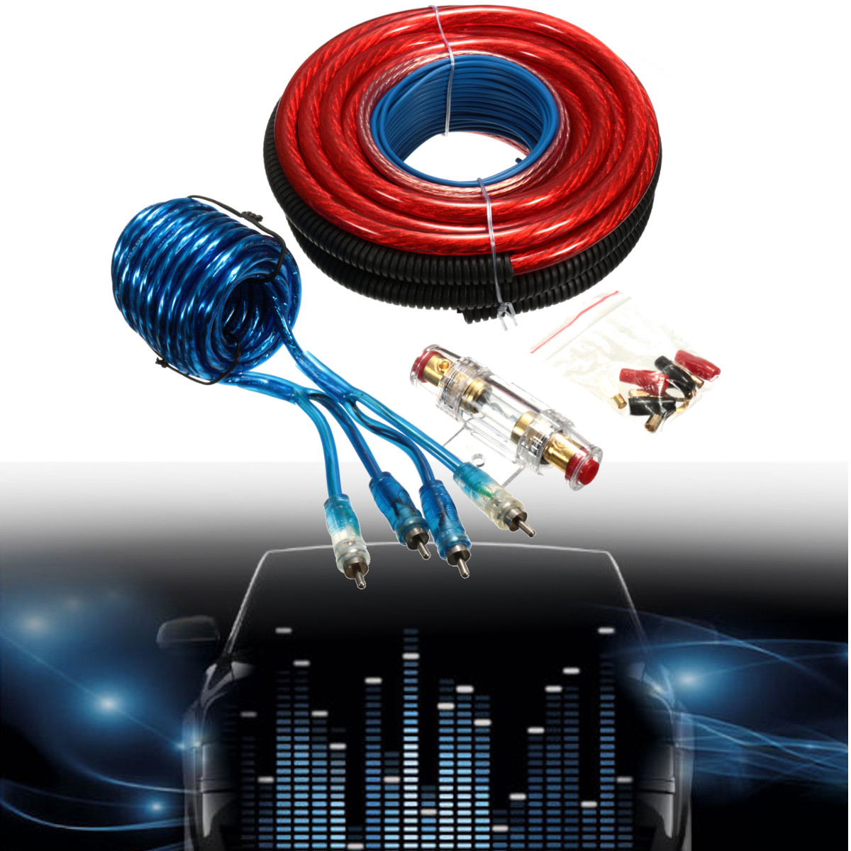Buy Gauge 4 Wire And Get Free Shipping On Pro Amplifier Amp Install Wiring Kit Complete Car Audio Cables