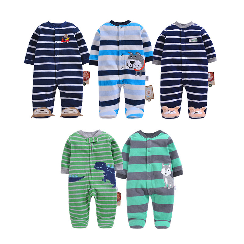 2019 Baby Clothing Newborn Baby Jumpsuit Fleece Overalls Infants Baby Clothes Boys Winter Clothes Pajamas Toddler Costume