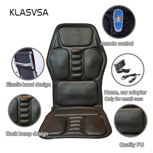 Image 3 - KLASVSA Heating Neck Massage Chair For Back Seat Topper Car Home Office Massager Vibrate Cushion Back Neck Relaxation