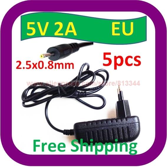 5 Pcs Free Shipping 2a Ac Eu Plug Wall Power Charger