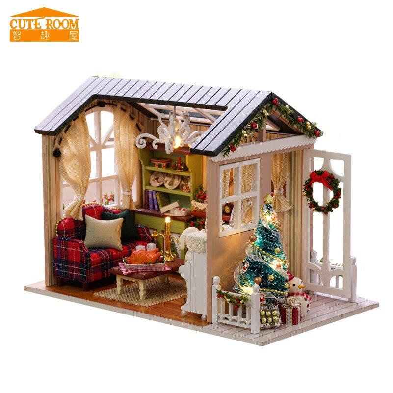 Good Cuteroom DIY Hölzernes Spielzeughaus Miniatur 3D Holz Puzzle Puppenhaus  Amerikanischen Retro Stil Holz Haus Puppe Für Kind Christimas Geschenke In  Cuteroom ...