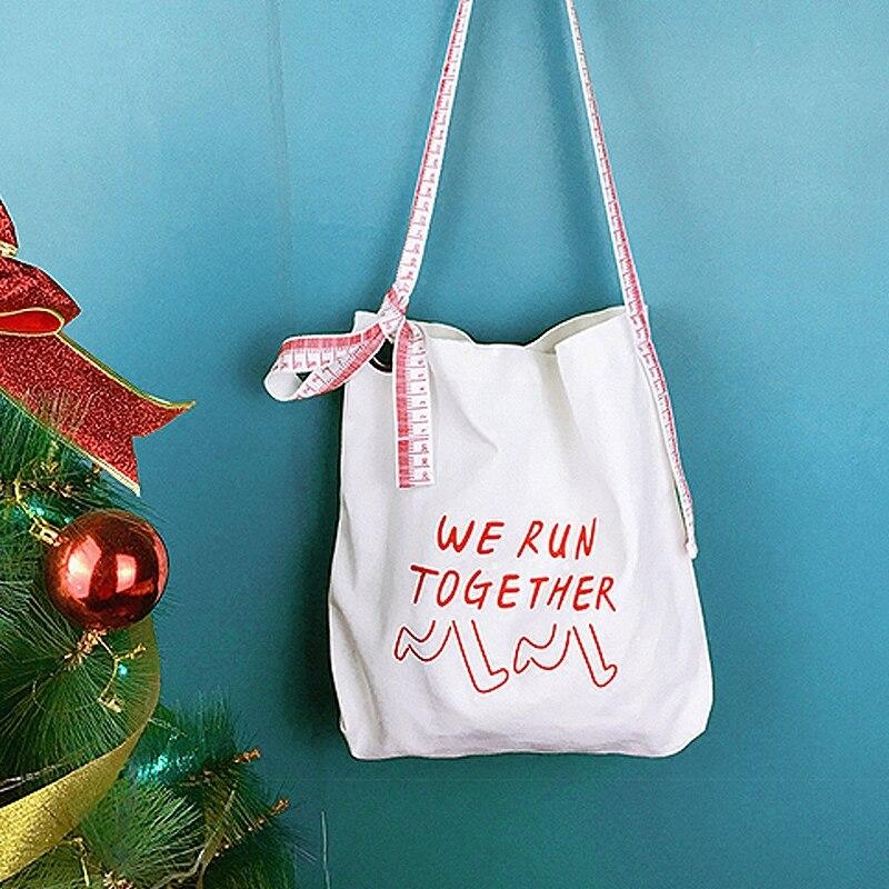 ZHIERNA South Korea creative design shoulder strap street shot Messenger bag printing canvas bag bag shoulder bag