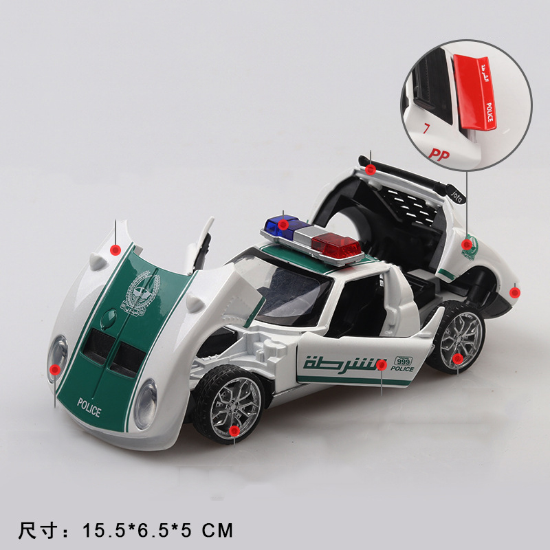 Cheap Kid Toys 1 32 Alloy Pull Back Toy Car Model Dubai Super Racing Police Car Four Open The Doors Light Sound For Children Boy Diecasts Toy Vehicles Aliexpress