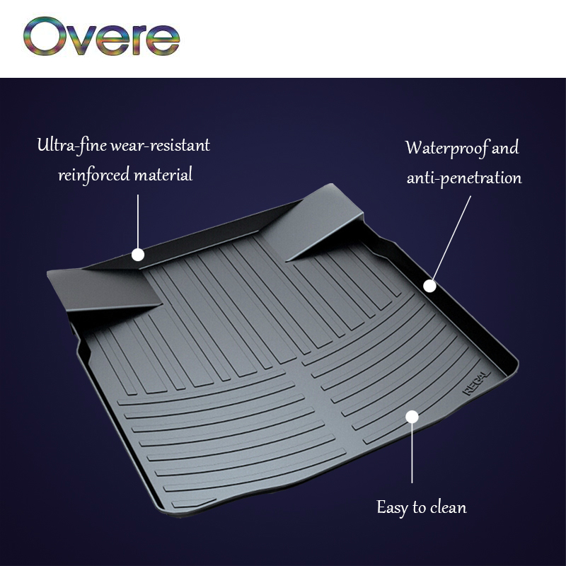 Overe 1Set Car Cargo trunk mat For Buick Encore Envision Excelle GT Verano Sedan Hatchback Regal GL8 28T-2.0T LaCrosse 20T 28T for buick lacrosse excelle gt excelle xt verano light led moving front door scuff sticker sill plate pedal protector styling wh