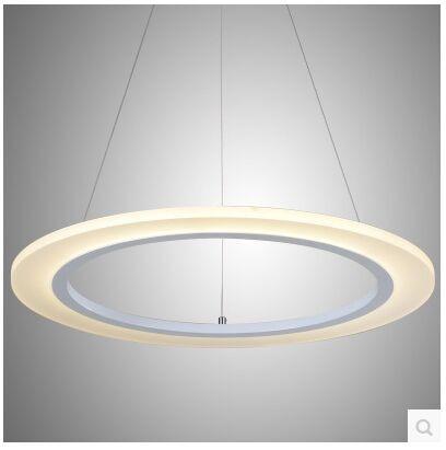 LED de mode acrylique annulaire salon lampe droplight contracté et contemporain chambre restaurant taille: 40 + 30 + 20 CM - 4