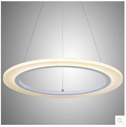 Moda LED acrílico anular lámpara de sala de estar droplight contratado y dormitorio contemporáneo Tamaño del restaurante: 40 + 30 + 20 CM - 4