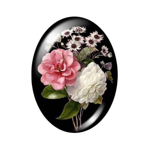 Красивые Винтажные Цветы Роза Маргаритка 10 шт. 13x18 мм/18x25 мм/30x40 мм овальные фото стекло кабошон демонстрационная плоская задняя часть изготовление TB0043 - Цвет: D