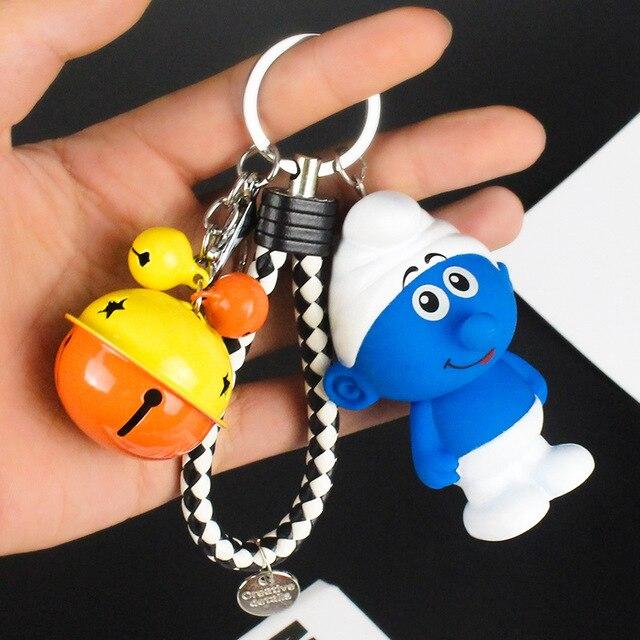 Cartoon Cute Pokemon Pikachu Elf Ball Keychains Anime Keyring Bell Key Chain Handbag Key Ring Kid Toy Pendant Phone Straps in Key Chains from Jewelry Accessories